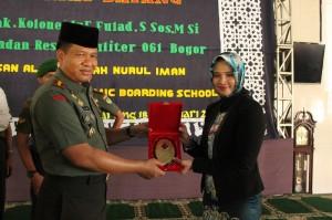 Komandan Komando Resort Militer 061 Suryakancana Bogor Siap Latih Santri Nurul Iman, Yayasan Al AShriyyah Nurul Iman Islamic Baording School
