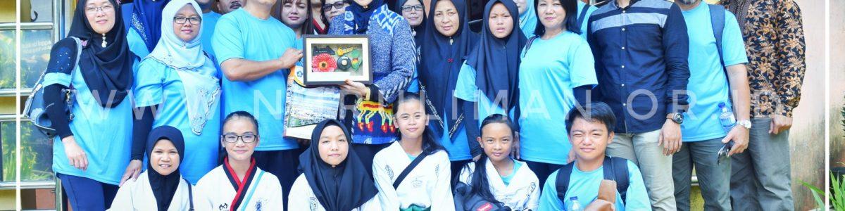 Siswa Sekolah Kebangsaan Malaysia Berlatih Taekwondo di Nurul Iman